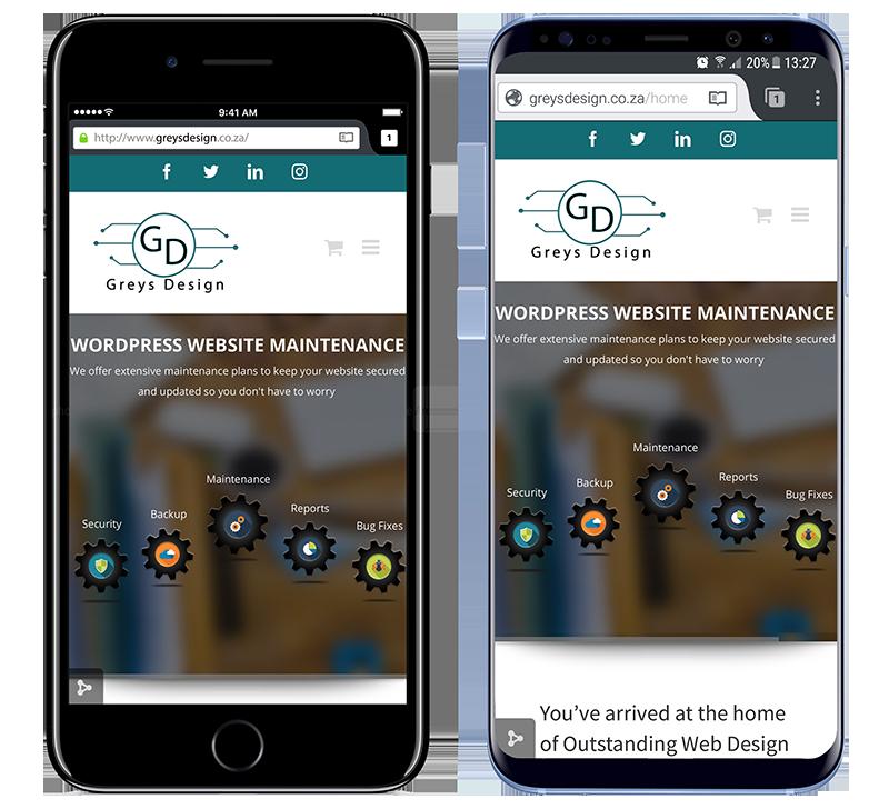 Greys Design Responsive Mobile View